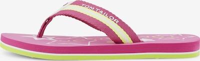TOM TAILOR Zehentrenner in gelb / pink / weiß, Produktansicht