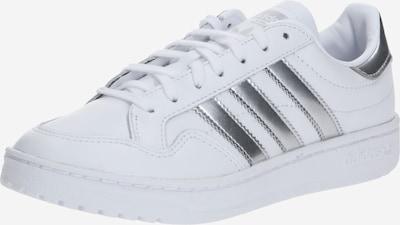 ADIDAS ORIGINALS Baskets basses en argent / blanc, Vue avec produit