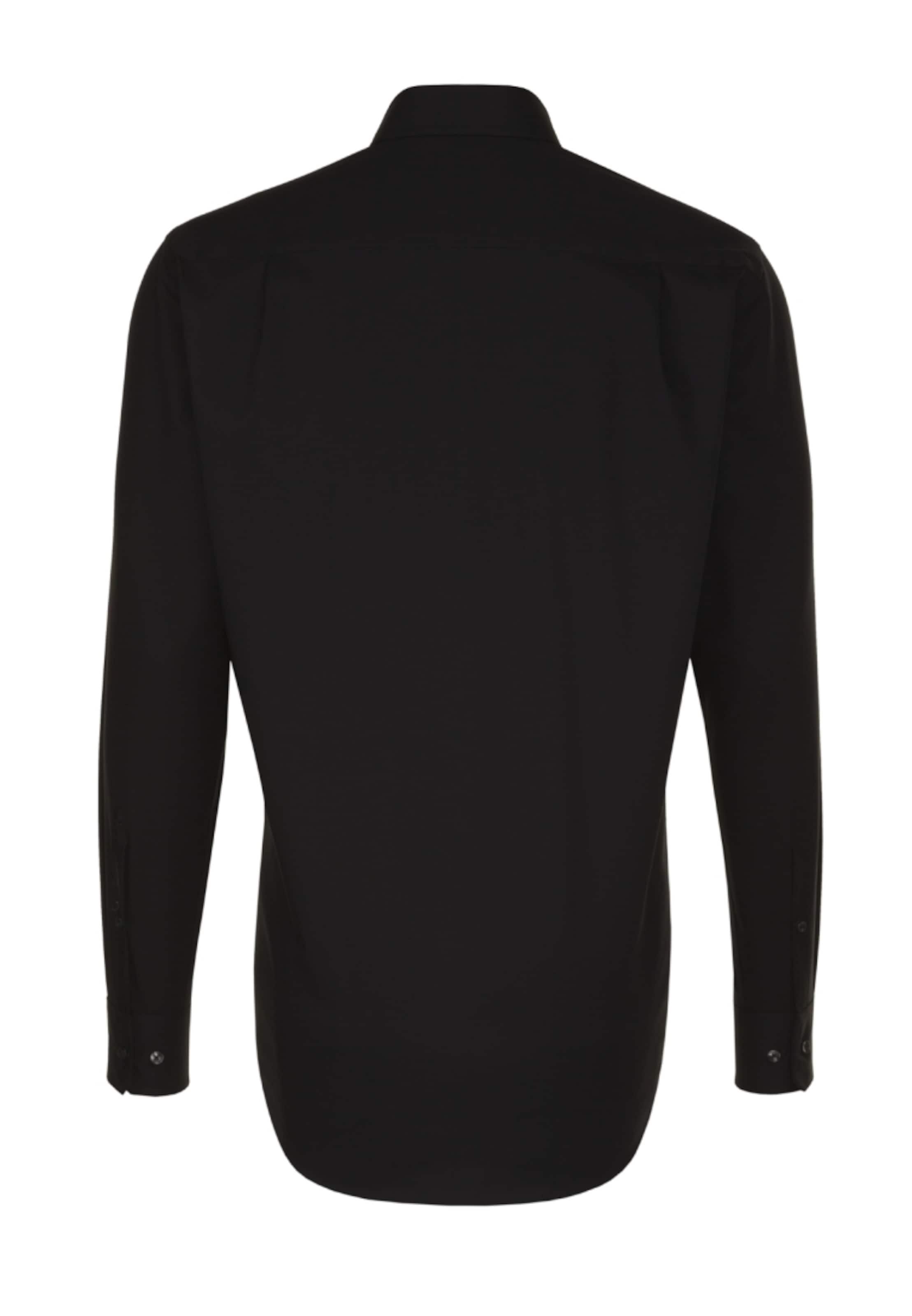 Modern Overhemd In Zakelijk Zwart Seidensticker ' TlFc13uKJ