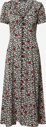 POLO RALPH LAUREN Kleid in rot / schwarz / weiß, Produktansicht