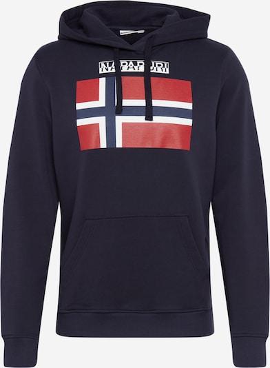 NAPAPIJRI Sweatshirt in rot / schwarz / weiß, Produktansicht