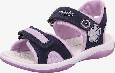 SUPERFIT Sandale 'Sunny' in dunkelblau / pastelllila, Produktansicht