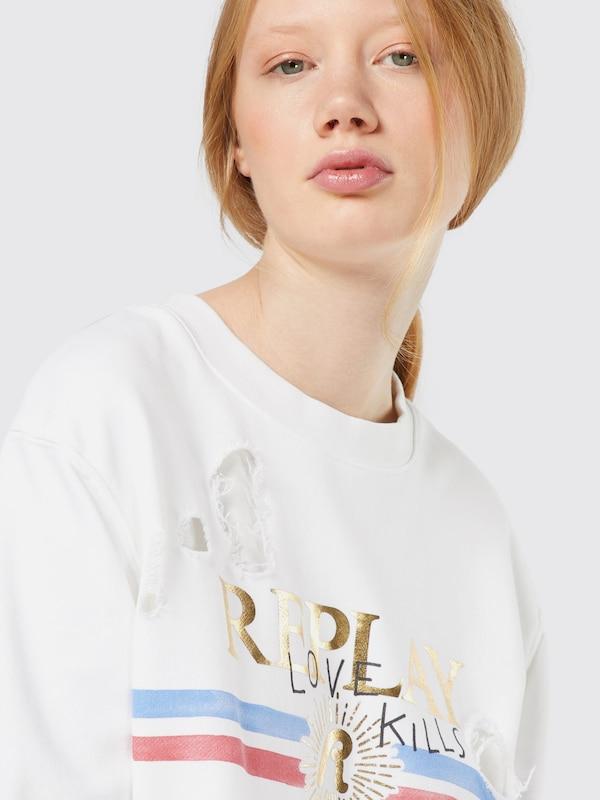 REPLAY Sweatshirt im Destroyed-Look