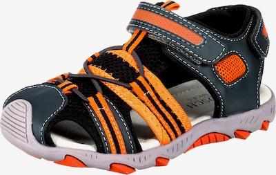 myToys-COLLECTION Sandalen in dunkelgrau / orange, Produktansicht