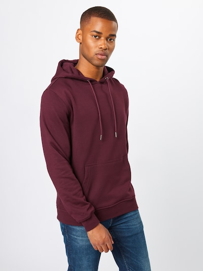 Urban Classics Sweatshirt 'Basic Sweat Hoody' in weinrot: Frontalansicht
