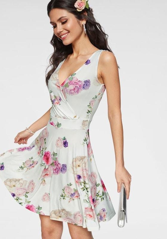 MELRosa Kleid Kleid Kleid in mischfarben   Rosa   weiß  Großer Rabatt e2fd0c