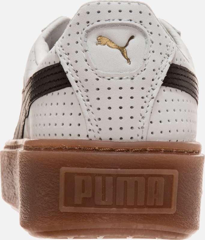PUMA Basket Platform Perforated Sneaker Damen