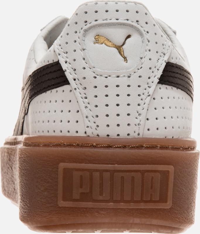 PUMA Basket Platform Perforated Sneaker Damen