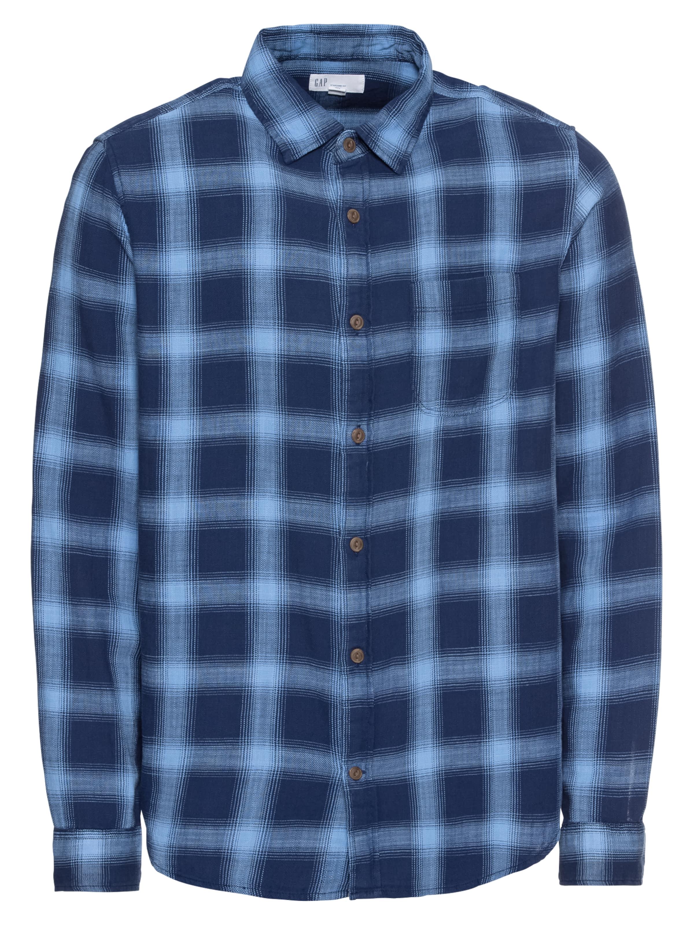 Blauw Gap Cotton In Twill Overhemd 'slub Shirt' fgYb76yv