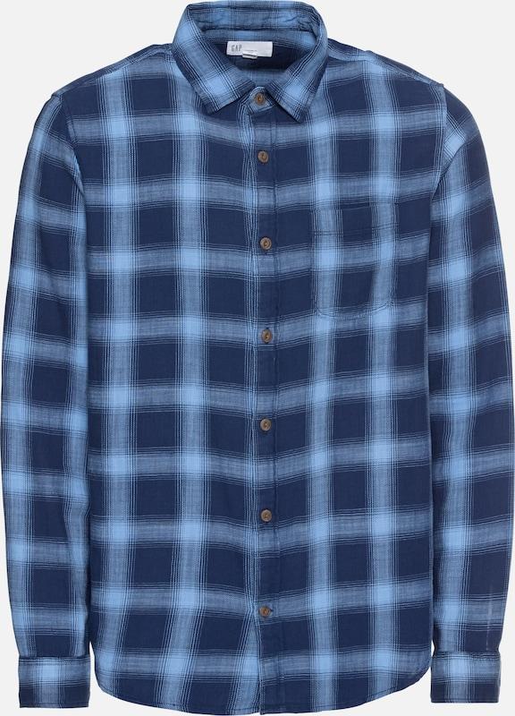 Bleu Shirt' Chemise 'slub Gap Twill Cotton En iPkOZXu
