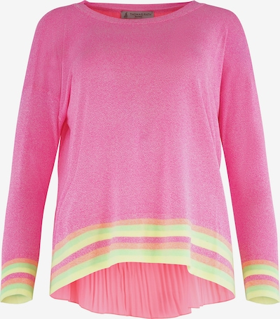 THOMAS RATH Trui ' Cortina ' in de kleur Geel / Groen / Pink, Productweergave