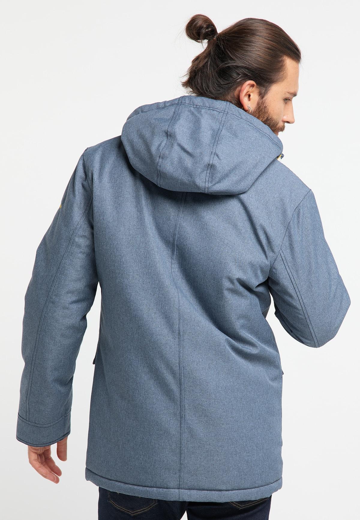 Bestbewertet Männer Bekleidung Schmuddelwedda Anorak in rauchblau / gelb Verkaufsschlager