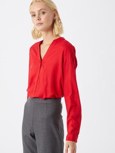 ESPRIT Bluse 'SLUB' in rot, Modelansicht