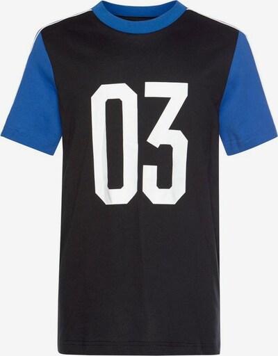 ADIDAS PERFORMANCE J Set Shirt + Shor in kobaltblau / schwarz, Produktansicht