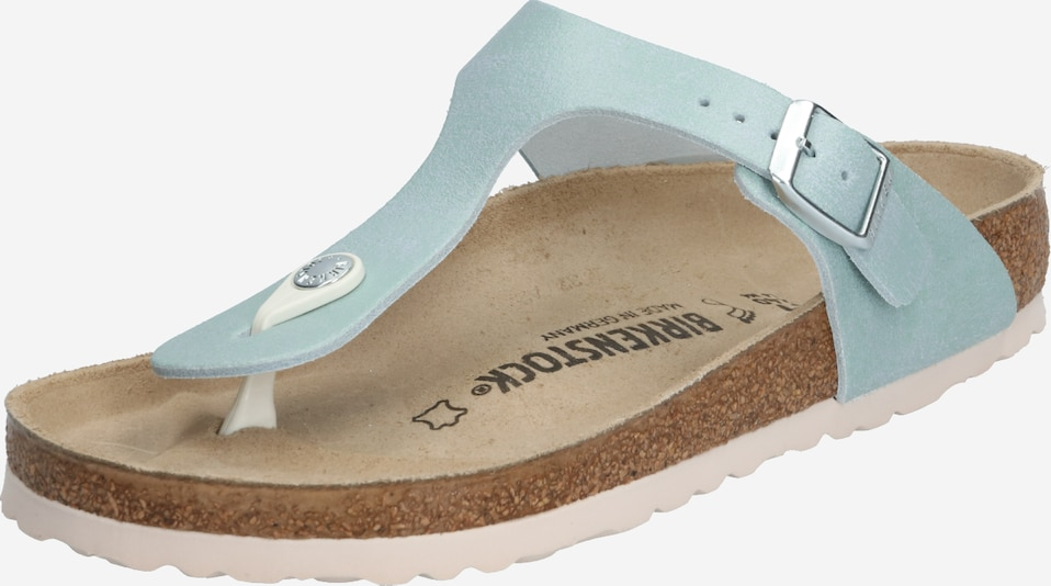 BIRKENSTOCK Teenslipper 'Gizeh Washed Metallic' in de kleur Goud / Zilver, Productweergave