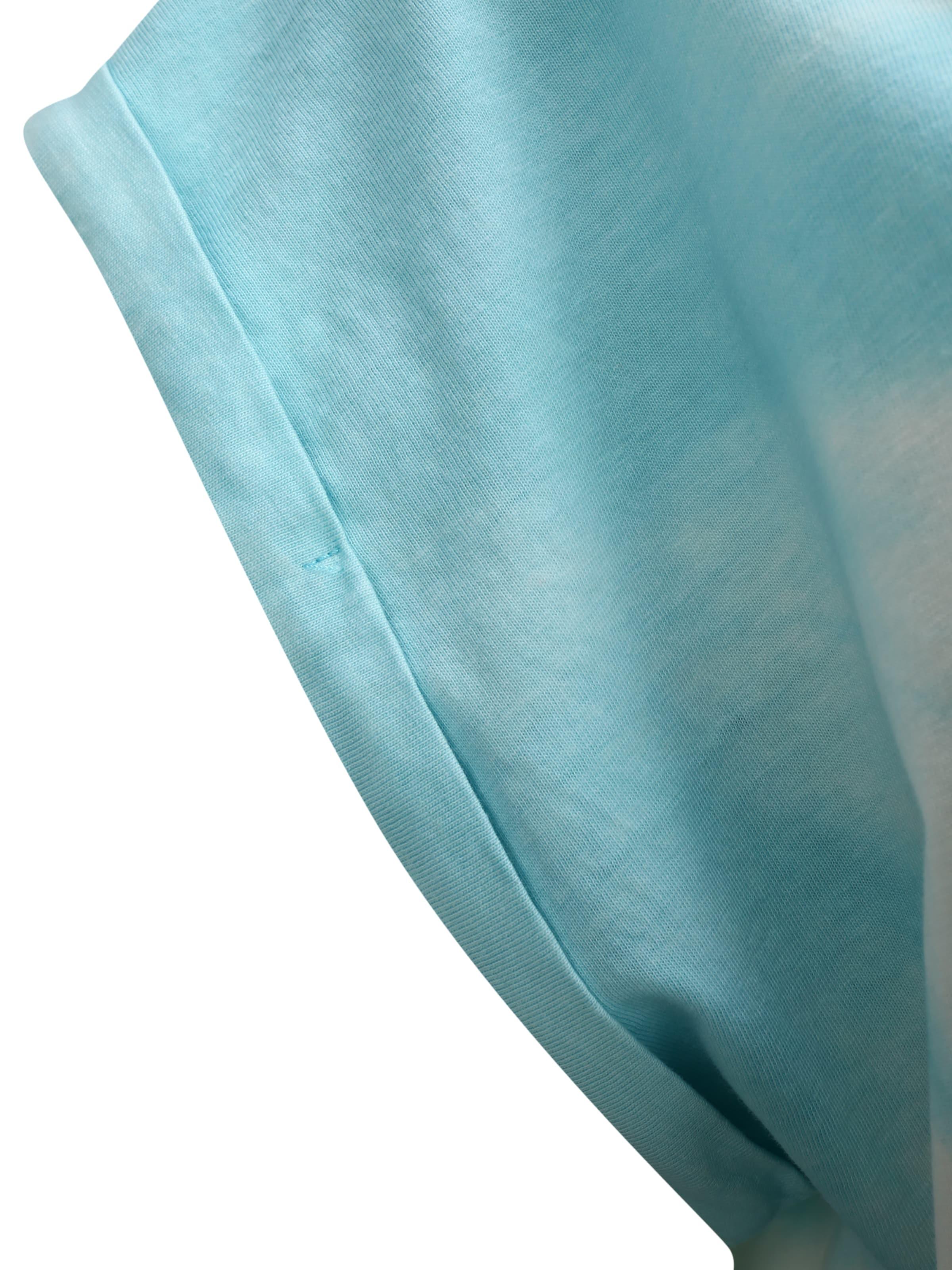 Urban Classics Curvy Klänning 'Tie Dye' i ljusblå