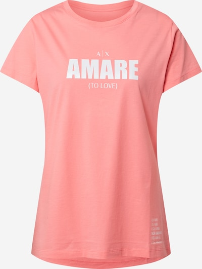 ARMANI EXCHANGE Shirt in rosa / weiß, Produktansicht