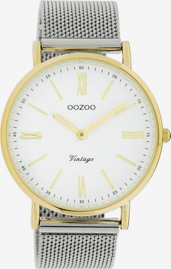 OOZOO Uhr 'C20118' in gold / silber / weiß, Produktansicht