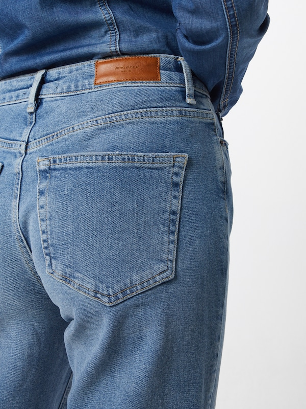 VERO MODA Jeans 'VMSARA MR RLXED STR DESTR BA3130 NOOS GA' in blue denim, Produktansicht