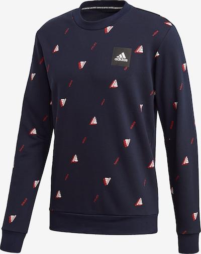 ADIDAS PERFORMANCE Sweatshirt in marine / hellrot / weiß, Produktansicht