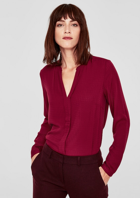 Label Blutrot Red oliver Bluse S zEqORwnx