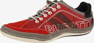 bugatti Sneaker in rauchgrau / rot / schwarz, Produktansicht