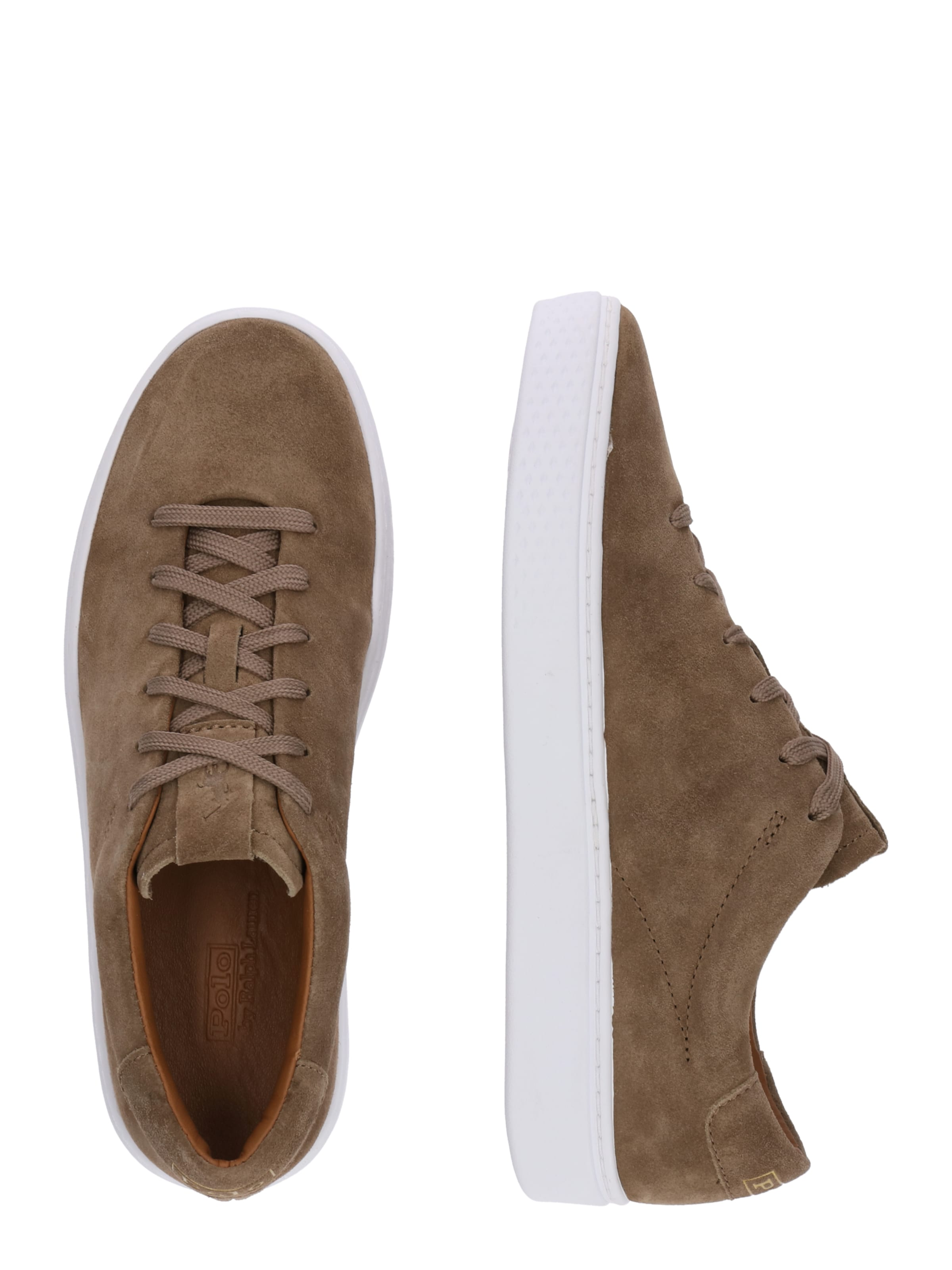 125' Laag Ralph In Sneakers 'court Lauren Taupe Polo IbgyY6vf7