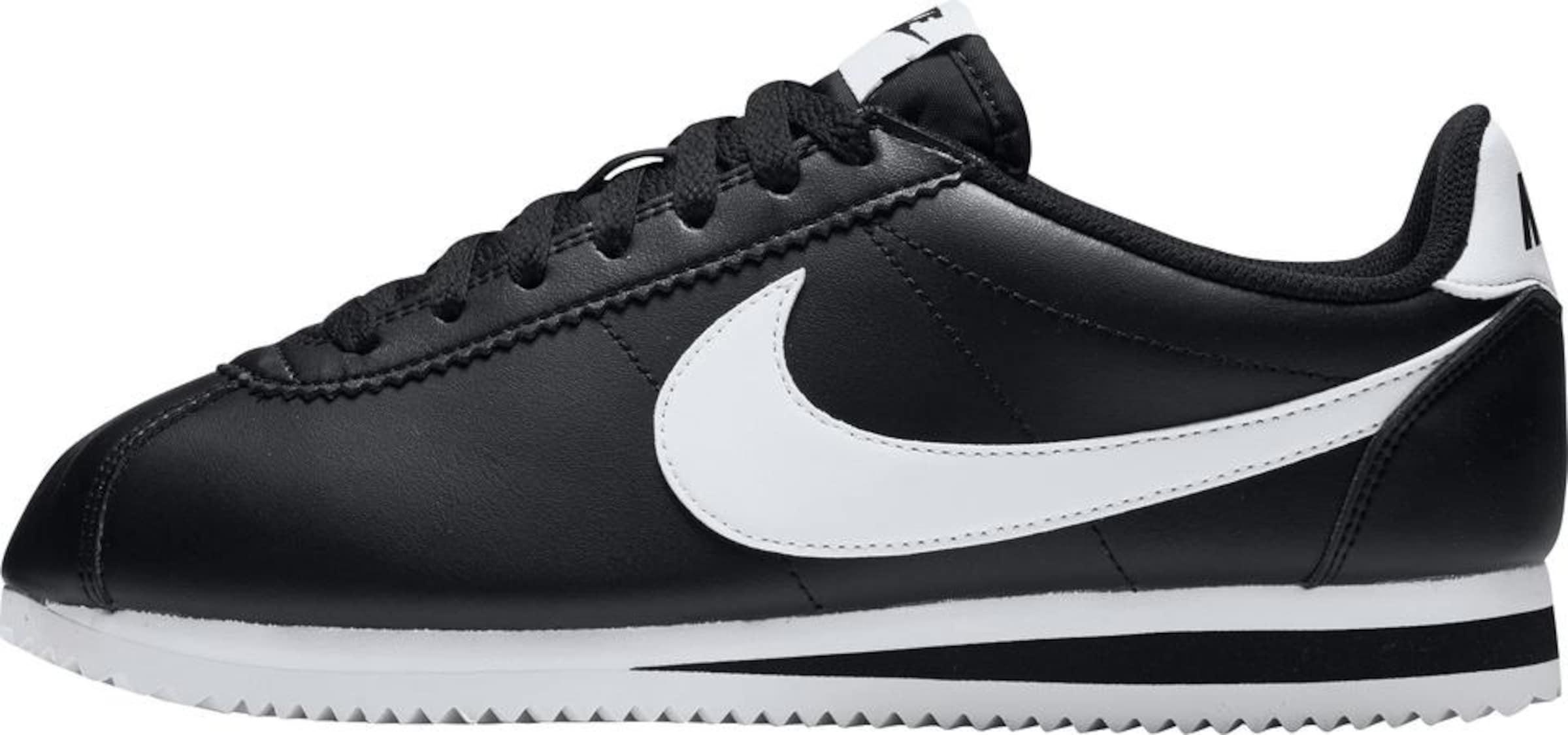 Cortez Nike Sneaker Leather' In Sportswear 'classic SchwarzWeiß v8nmN0wO