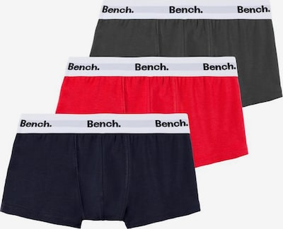 BENCH Boxer in grau / rot / schwarz, Produktansicht