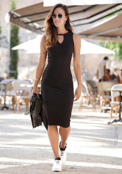 BUFFALO Sheath Dress in Black, View model