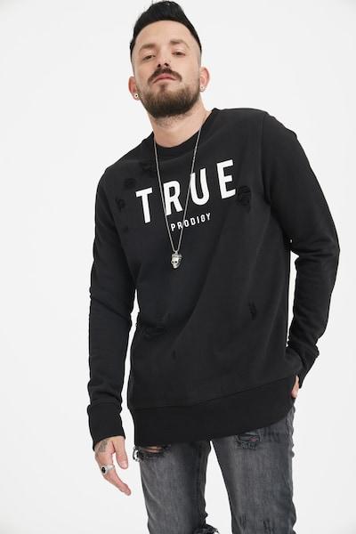 trueprodigy Sweatshirt 'Flash' in schwarz / weiß, Produktansicht