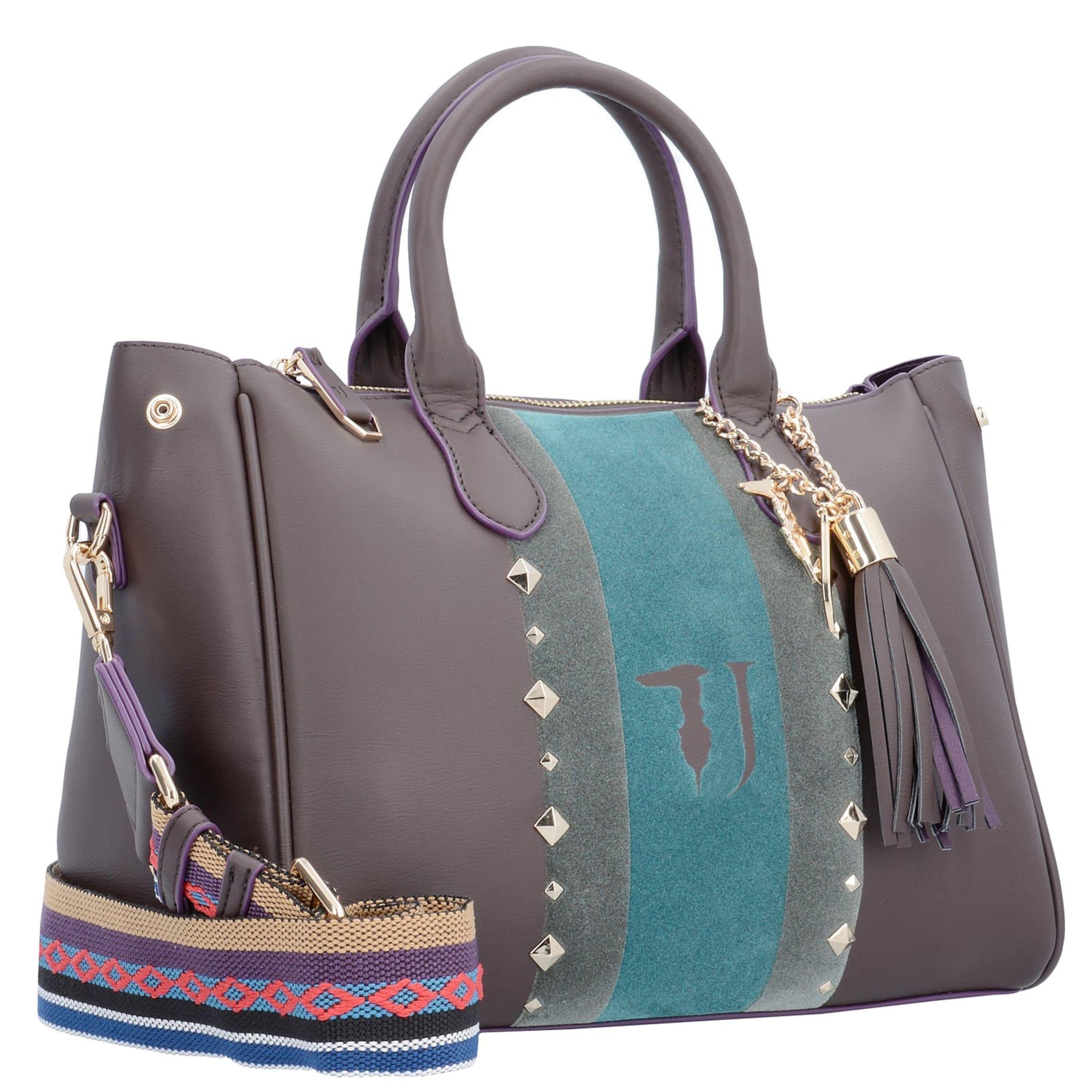 Trussardi Jeans Blondie Ecoleather Stud Tote Medium Bag Handtasche 30 cm Rabatt Offiziell sujHV