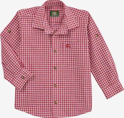 OS-TRACHTEN Trachtenhemd in rot / weiß, Produktansicht