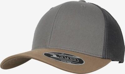 Cappello da baseball '110 Trucker' Flexfit di colore marrone / grigio, Visualizzazione prodotti