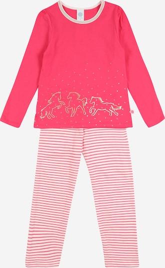 SANETTA Pyjama in pink / weiß, Produktansicht