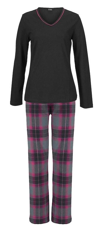 Pyjama Gris Violet Lascana Noir En HfdOBq