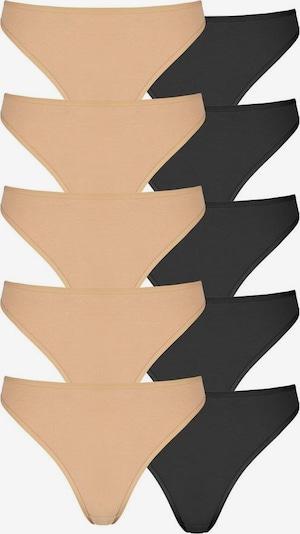 GO IN String in beige / schwarz, Produktansicht