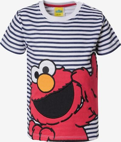 SESAMSTRASSE T-Shirt 'Sesamstraße' in blau / rot / weiß, Produktansicht