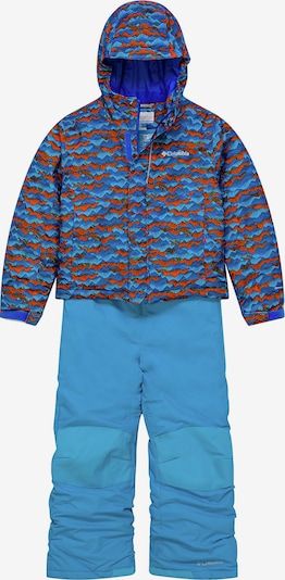 COLUMBIA Schneeanzug 'Buga' in hellblau / dunkelblau / orange, Produktansicht