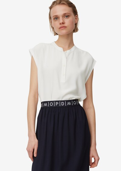 Marc O'Polo DENIM Blusenshirt in weiß, Modelansicht