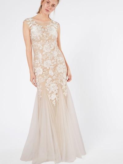 Vakarinė suknelė 'Ivory' iš mascara , spalva - pudros spalva / balta, Modelio vaizdas