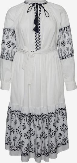 Vero Moda Curve Obleka | črna / bela barva, Prikaz izdelka