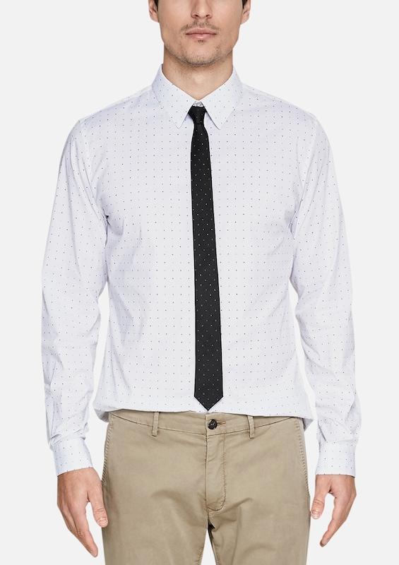 s.Oliver BLACK LABEL Krawatte mit Minimalmuster