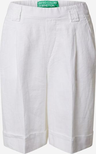 UNITED COLORS OF BENETTON Pantalon à plis en blanc, Vue avec produit