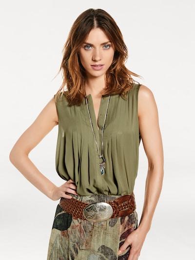 heine Shirtbluse in khaki, Modelansicht