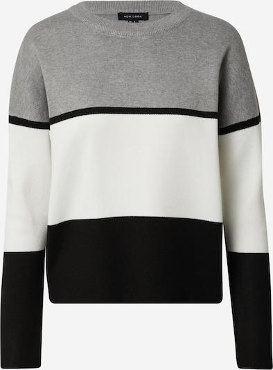NEW LOOK Trui 'ROBIN' in de kleur Grijs / Zwart / Wit, Productweergave