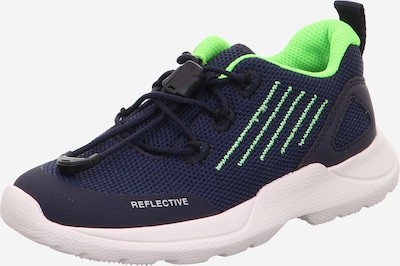SUPERFIT Sneaker 'RUSH' in navy / grün, Produktansicht
