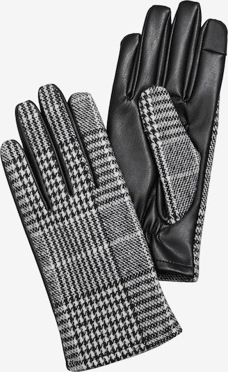 s.Oliver Handschuhe in schwarz / weiß, Produktansicht