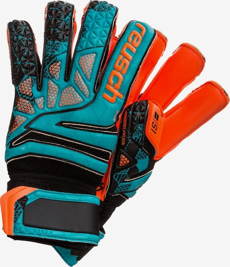 REUSCH Sporthandschoenen 'Prisma Prime S1 Evolution Finger Support LTD' in de kleur Blauw / Sinaasappel, Productweergave