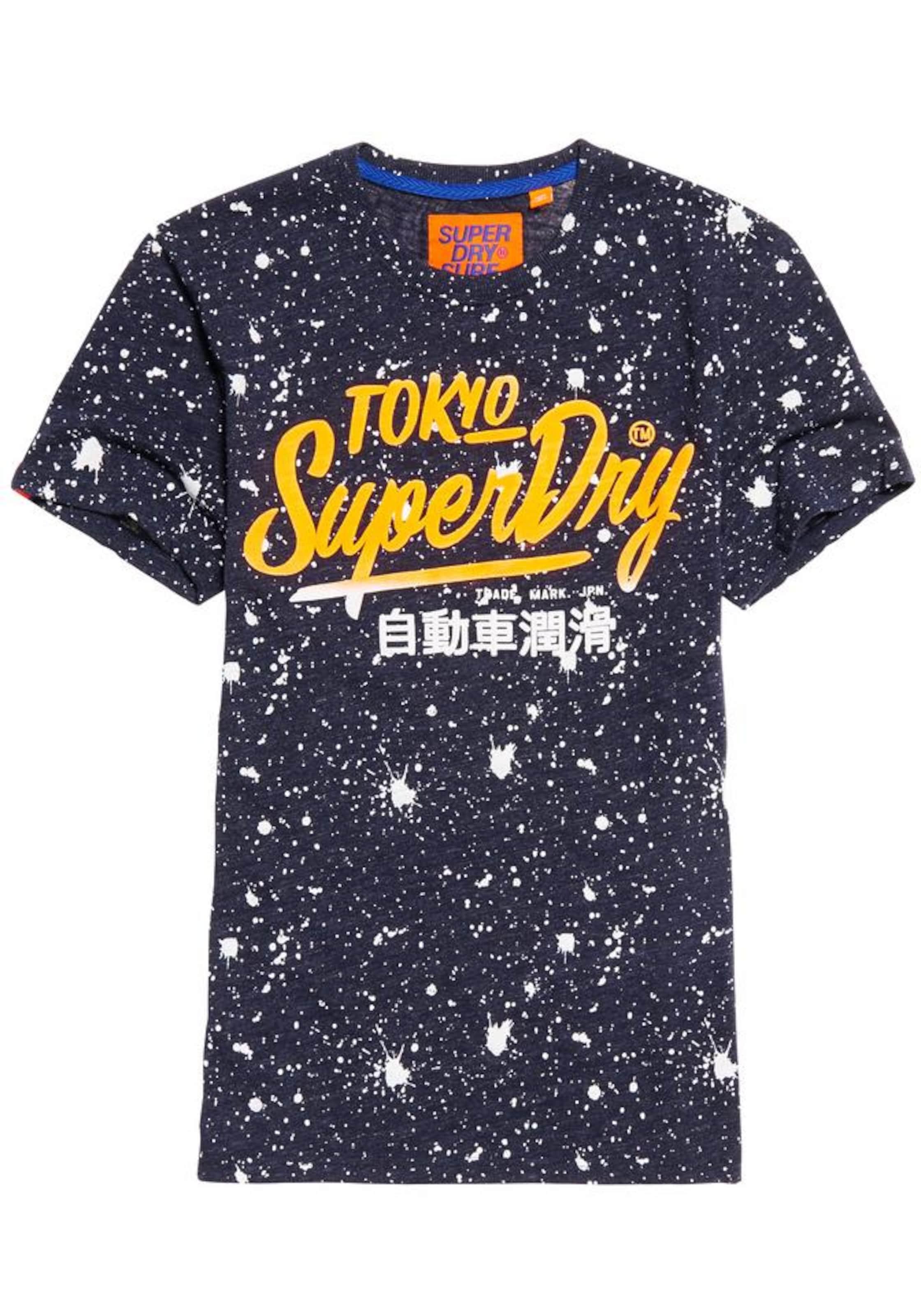 Superdry T-Shirt 'TICKET TYPE SPLATTER TEE' Rabatt Wirklich BUIG7jyR